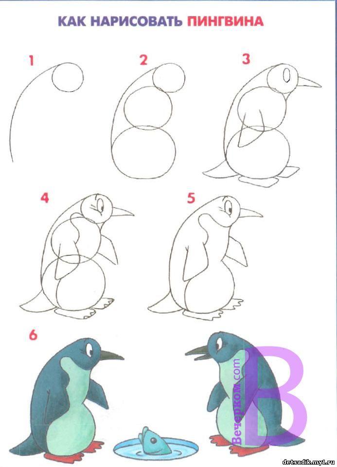 Рисовать поэтапно рыб карандашом