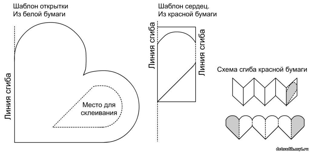 Объёмная аппликация из бумаги своими руками схемы
