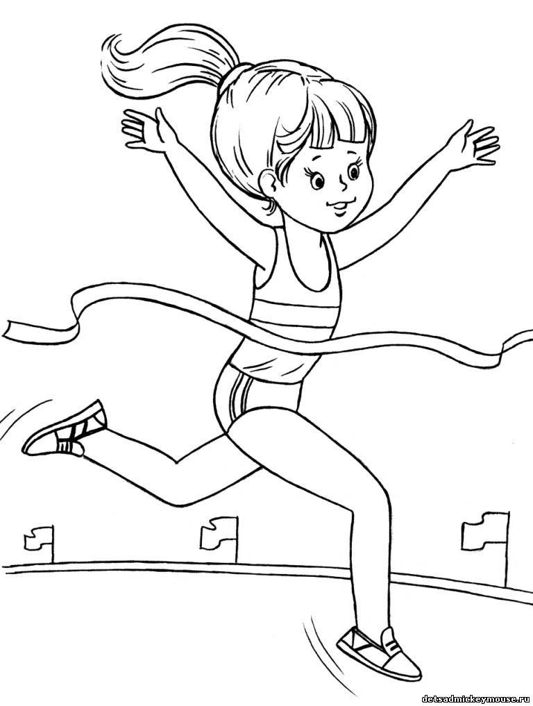 Рисунки карандашом про спорт для детей
